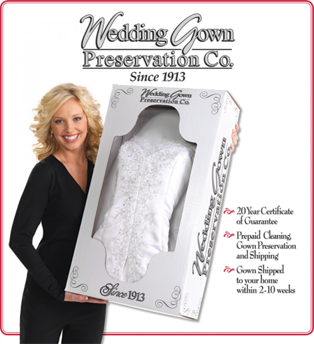 $25 off your gown preservation with a gown purchase from Hussey's!